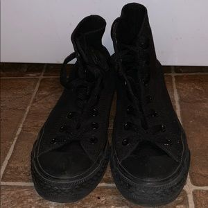 High-top all black Converse